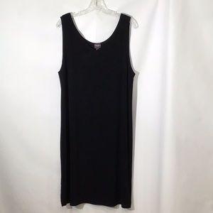 Chico's Traveler Black Sleeveless Midi Dress Sz 3